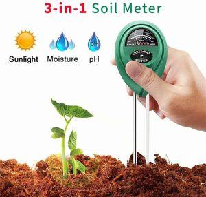 Bodentester, PH Feuchtemessgerät, Hygrometer, Licht- und pH-Säuretester, 3 in 1 Bodenfeuchtesensor für Pflanzenerde, Garten, Bauernhof, Rasen (kein Batterien erforderlich)