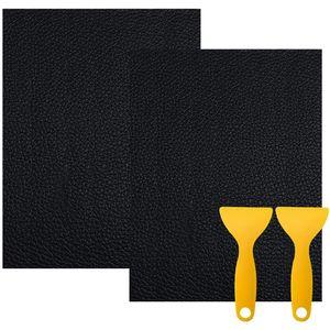2pcs 20*30cm Lederreparatur Kunstleder Flicken Selbstklebend Patch Sofa Reparatur Für Autositze Jacke Sofa Couch Rucksack