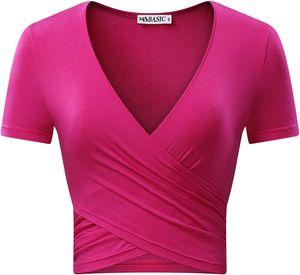 Damen V Ausschnitt T Shirt