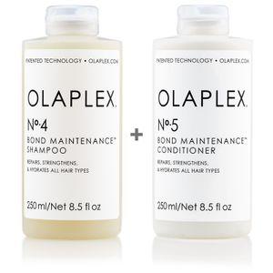 Olaplex Set - Olaplex Bond Maintenance Shampoo No 4 (250ml) + Olaplex Bond Maintenance Conditioner No 5 (250ml)