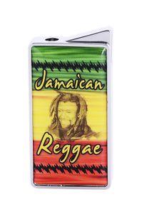 """FEUERZEUG """"Reggae"""" Gas Metall Piezozündung Original Geschenk schwer 91 (Reggae Jamaican)"""