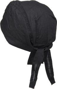 styleBREAKER Bandana Kopftuch, Zandana, Kopfbedeckung, Bikertuch 04023012, Farbe:Schwarz