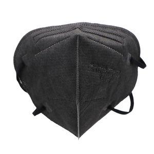 200 x Erwachsene FFP2 Schutzmasken(Schwarz), 5-Schicht-Filtration Einwegschutzmaske, CE 0161