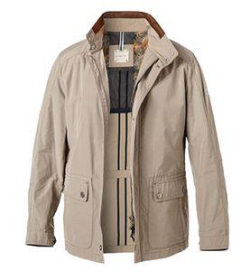 bugatti Frühlings-Jacke smarter Herren Mantel Schlanke- sowie Kurzgrößen Beige, Größe:24