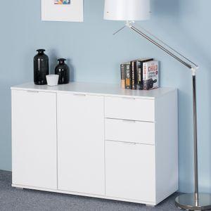 Deuba Sideboard Kommode Mehrzweckschrank Schlafzimmer Schrank Büromöbel , Modell/Farbe:DB131 - Weiß