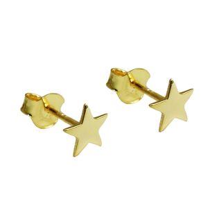 Ohrstecker Ohrring 6mm Stern glänzend flach 9Kt GOLD gold 6mm