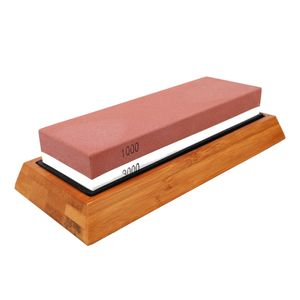 Doppelseitiger zweifarbiger Schleifstein-Schleifstein fuer die Kueche Weisser Korund-Schleifwerkzeug mit Silikagel-Unterlage