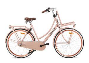 Popal Transportfahrräder Damen Daily Dutch Basic+ 28 Zoll 57 cm Damen 3G Rücktrittbremse Lachsfarben