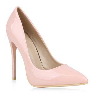 Mytrendshoe Spitze Damen Pumps High Heels Stilettos Klassische Schuhe 820060, Farbe: Rosa, Größe: 40