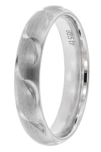 trendor 65250 Damenring 925 Silber Breite 4 mm, 54/17,2