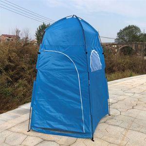 Meco Pop up Duschzelt Toilettenzelt Umkleidezelt Outdoor Camping Wasserfest Beistellzelt Blau