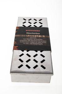 Räucherbox Edelstahl Smokerbox für Gasgrill, Holzkohle Grill, BBQ Box Grillzubehör