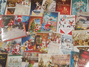 """20 x Glückwunschkarte """" Frohe Weihnachten """" Weihnachtskarte verschiedene Motive UVP 1,29€ - 2,49€"""