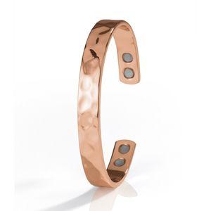 VITALmaxx Unisex Kupfer Armband 9mm inkl. 4 Magnete Damen Herren Armreif Magnetarmband Kupferarmband