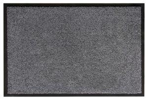 Fußmatte 80 x 120 cm Grau Türmatte Sauberlaufmatte für Innen- und überdachte Außenbereiche wasserfest mit rutschfester Rückseite Fußabtreter