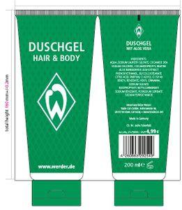 SV Werder Bremen Duschgel Shampoo HAIR und BODY 200 ml, 3020233