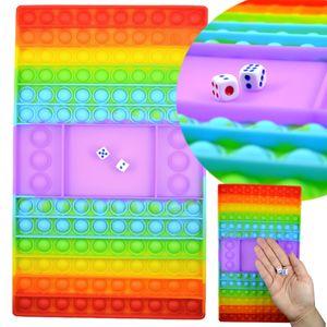 Magic Pop It Regenbogen Würfelspiel Antistress Fidget Noppen Kinder 30cm