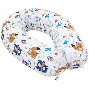 Schwangerschaftskissen [Waldtiere - Blau] Stillkissen Lagerungskissen Seitenschläferkissen XL 170cm
