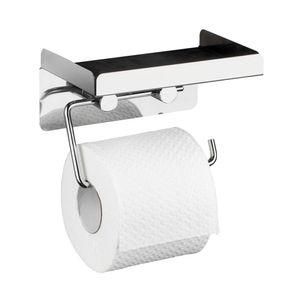 Toilettenpapierhalter 2 in 1, Edelstahl rostfrei