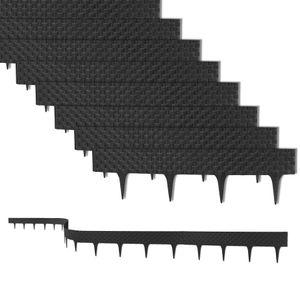 19,2 m Rasenkante mit 24 Elemente á 80 cm Biegbarer Kunststoff in Rattan-Design Beeteinfassung