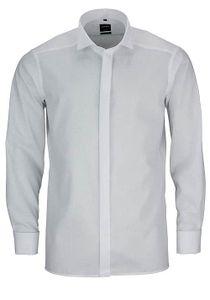 Olymp Modern Fit Gala Hemd Langarm Uni Popeline Beige 0395/65/21, Größe: 43