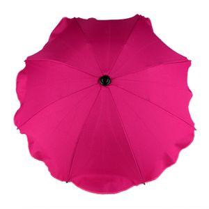 BAMBINIWELT Sonnenschirm für Kinderwagen Ø68cm UV-Schutz50+ Schirm Sonnensegel Sonnenschutz, pink