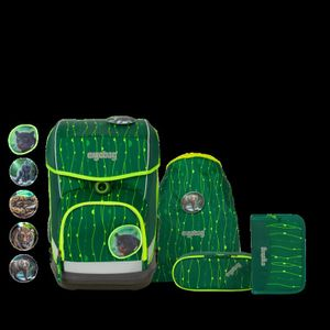 Ergobag Schulrucksack Set (5-tlg.) cubo light, RambazamBär