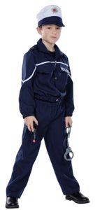 Kostüm Anzug Polizist blau mit Mütze, Größe:116