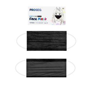 Kinder OP Masken Mundschutz Maske für Kids Typ IIR Medizinische-Schwarz