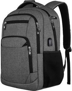Laptop Rucksack, Jungen Schulrucksack Herren und Damen Daypack 15,6 Zoll, Leichtgewicht wasserdichte Anti Diebstahl Schultasche (C25-Dark Grey, 15.6 Zoll)