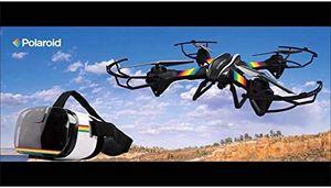 Polaroid Pack Drohne HD Falcon VR Kopföhrer - 360° Rotationen 100 Meter Funkfrequenz: 2,4 GHz Reichweite: 200 Meter Geschwindigkeit: 16 km/h Flug-Zeit: bis zu 10 min
