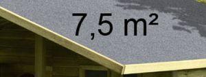 Dachpappe Bitumen für Kinderspielhaus / Stelzenhaus 7,5m²