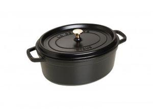 Staub Cocotte oval Schwarz 31cm 5,5L  40509-319-0