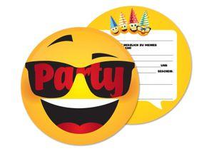 Friendly Fox Smiley Face Einladung - 12 Smiley Einladungskarten Kindergeburtstag Junge Mädchen - coole Partyeinladung für Kids