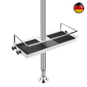 Duschregal Duschablage für Duschstange Seifenkorb Verstellbar Höhe Ohne Bohren