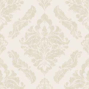 Boutique - Vliestapete - Damask - Metallic Effekt - Creme - 10m x 52cm