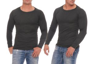 2 Hemden anthrazit Herren Thermo Unterwäsche, Größe 7