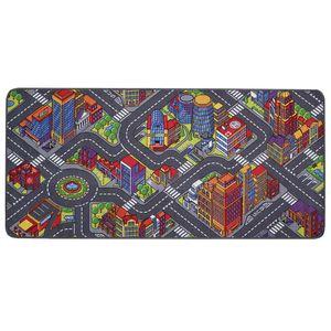 Spielteppich Kinderteppich mit Straßen Big City - 200x300cm, Pflegeleichter Kinderzimmer-Teppich für Mädchen und Jungen