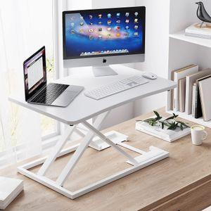 EPHEX Ergonomischer Höhenverstellbarer Schreibtisch, Sitz-Steh-Schreibtisch Computer Monitor&Laptop Standtisch Sit-Stand Workstation, 72.5 x 47cm Plattform, 6cm zu 39.5cm