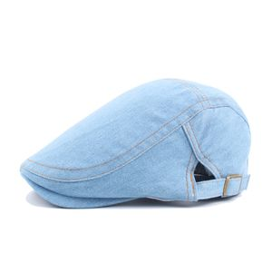 Denim Baskenmütze Jugend Kappe Denim Hut