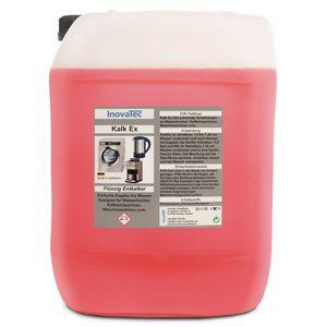 10 Liter KalkEX - Kalklöser flüssig Entkalker mit Zitronensäure Schnellentkalker Inovatec
