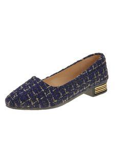 Damen Einfarbig High Heel Freizeitschuhe Urlaub Spitzschuhe Mode Business Schuhe,Farbe: Blau,Größe:42