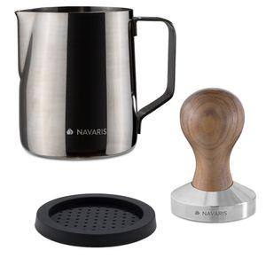 Espresso Tamper mit Milchkännchen