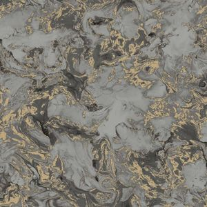 DUTCH WALLCOVERINGS Tapete Marmor Grau und Gold