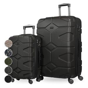 HAUPTSTADTKOFFER - X-Kölln - 2er Koffer-Set Trolley-Set Rollkoffer Reisekoffer, TSA, (S & L)