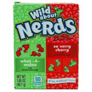 Wonka Nerds Watermelon und Wild Cherry kleine Hartkaramellen 46g