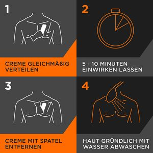Veet Men Haarentfernungs-Creme Sensitive Power mit Spatel Enthaarungscreme 400ml
