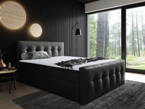 Mirjan24 Boxspringbett Malibu, Bett mit zwei Bettkästen, Stilvoll Doppelbett (Farbe: Soft 011, Größe: 200x200 cm)