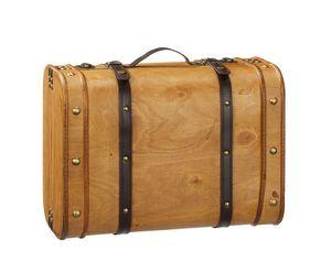 Holzkoffer 45 x 33 x 23 cm große Schatzkiste Dekokoffer Truhe