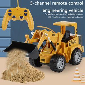 Bagger 1:24 RC 5-Kanal Traktor LKW Bagger Auto 2.4G Fernbedienung Enginee